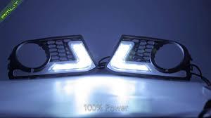 pmlit bmw 5 series f10 m tech daytime running lights led drl fog