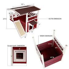Outdoor Cat Condo Plans by Amazon Com Petsfit 2 Story Outdoor Weatherproof Cat House Condo