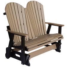 berlin gardens weatherwood brown double glider outdoor furniture