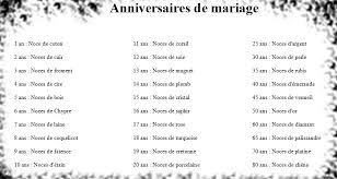 noces de mariage anniversaire de mariage