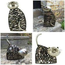 animals cats metal garden statues lawn ornaments ebay