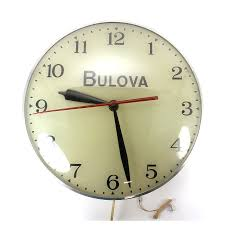 bulova advertising pam clock light up vintage findz items