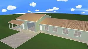 plan3d house and garage combo floor plan in 3d youtube