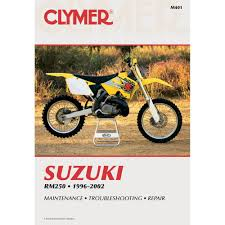 amazon com clymer suzuki rm250 1996 2002 manufacturer home