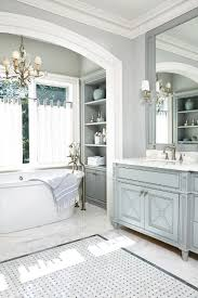 tranquil bathroom ideas gray grey blue walls with gold brass fixtures relaxing tranquil