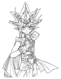 yugioh coloring pages yu gi oh coloring pages line drawings 6068