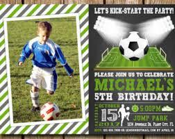soccer invitations etsy