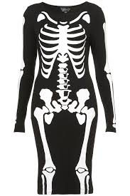 Skeleton Halloween Dress by Shop Frightfully Fabulous Fashion Finds Skeleton Dress