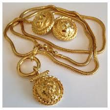 anne klein bracelet gold images Anne klein jewelry hp vintage lion necklace earrings poshmark jpg