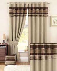 buy curtina vancouver chocolate lined eyelet curtains 168cm wide