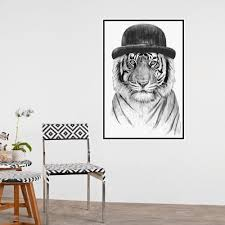 tiger wall sticker welcome to the jungle by balazs solti
