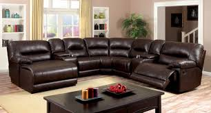 furniture of america cm6822br glasgow transitional brown leather