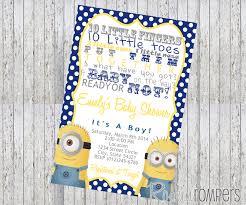 minion baby shower invitations theruntime com