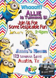 minion birthday party invitations blueklip com