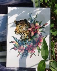 tattoo temporary long lasting tattoo flower tattoo leopard