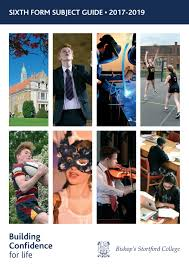 bishop u0027s stortford college sixth form subject guide 2017 19 by