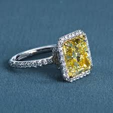 fancy yellow diamond engagement rings 6 carat radiant fancy yellow diamond engagement ring for sale at