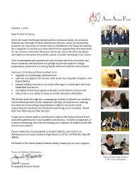 annual fund letter austin catholic high schoolaustin catholic