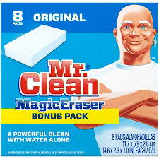 Mr Clean Bathroom Cleaner Mr Clean Magic Eraser Cleaning Sponge 8 Ct Walmart Com