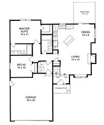 ranch style floor plan ranch style house floor plans plan 0980 2 bed 2 bath ranch style