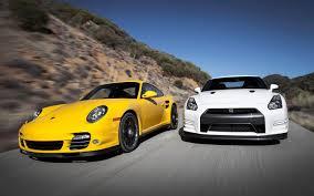 widebody porsche wallpaper feature flick watch a nissan gt r drag race a porsche 911 turbo s