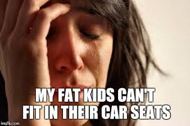 Car Seat Meme - my fat kids can t fit in their car seats meme