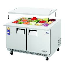 Refrigerated Prep Table by Everest Refrigeration Eotp2 Refrigerated Counter Mega Top