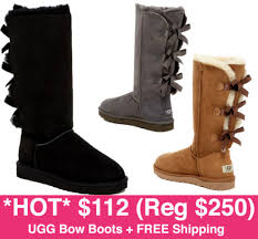 ugg bailey bow boots on sale 112 reg 250 ugg bailey bow boots free shipping