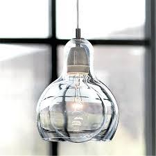 glass pendant light for kitchen island stained lighting modern