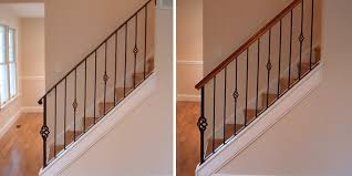 Wooden Banister Suggestions To Update Wrought Iron Stair Railing Without Replacing