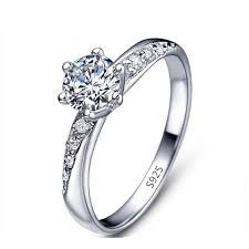zircon engagement rings s925 white gold zircon engagement ring 925 sterling silver rings