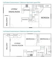 2 bedroom condo floor plans floor plans gulf island condominiums