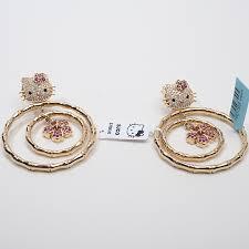 hello earrings gold hello jewelry hello simmons 18k gold diamond