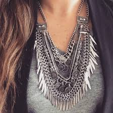 fashion jewelry statement necklace images Jewels antique silver loveshoppingmiami jewelry style jpg