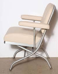 Folding Chair Leather Warren Mcarthur For Mayfair Aluminum And Leather Folding Chair