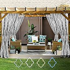 amazon com outdoor sheer curtains for porch ryb home water