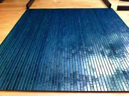 tahoe blue bamboo chair mat office floor mat wood floor