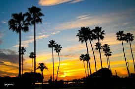 corona del mar beach orange county california at sunset