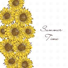 seamless vintage ornament with sunflowers vector clipart image
