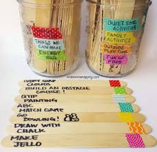things to do with washi tape washi tape summer boredom buster jars while he was napping