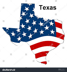 Texas Map Map Of Texas Tx Usa by Map State Texas American Flag Stock Illustration 11950027
