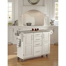 create a cart white finish sp granite top homestyles