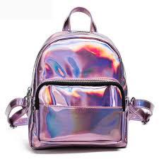 holographic bags 2017 new women hologram backpack laser daypacks girl school bag