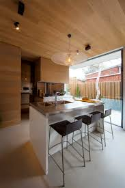 simple conex house design with brown box that combined the big