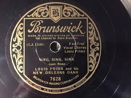 sing sing sing with a swing louis prima louis prima his new orleans sing sing sing it s been
