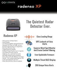 amazon com radenso xp radar u0026 laser detector with gps lockout and