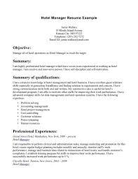 Hotel Manager Sample Resume by Resume For Hotel Management Training Contegri Com