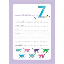 10 childrens birthday party invitations 7 years old bpif 55