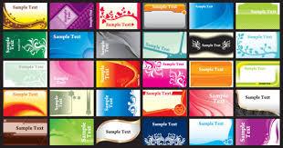 brilliant color business card template vectors download free