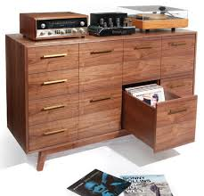 Cd Cabinet Modern Interior Design With Vinyl Record Cd Player Cabinet Ideas